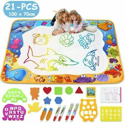 Water Drawing Mat- Kids Aqua Doodle Mat Toy - Colorful Multicoloured  • 20.49£