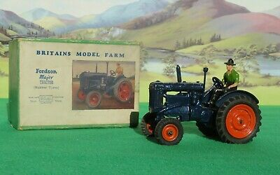 Britains Model Farm 128F FORDSON MAJOR TRACTOR (Rubber Tyres) - Vn Mint & Boxed • 234.99£