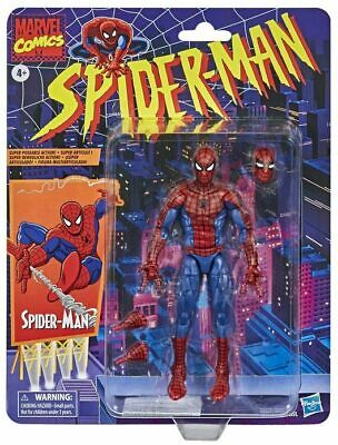 Spider-Man RETRO Hasbro Marvel Legends 6-inch Collectible Action Figure Toy  • 27.95£