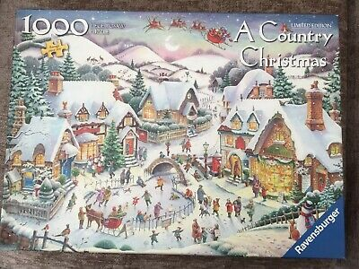 Ravensburger 1000 Piece Jigsaw Puzzle A Country Christmas • 1.70£
