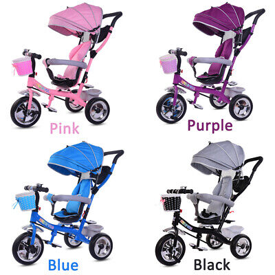 Baby Kids Trike 3-Wheels Pedal Bike Tricycle Boys Girls First Ride-On Bike Gifts • 55.99£
