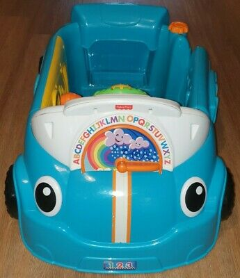 Fisher-Price Laugh And Learn Smart Stages Crawl Around Car Blue Musical Baby Toy • 20£