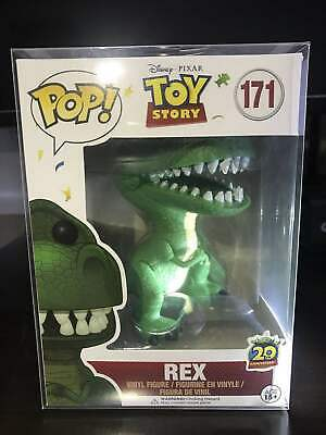 Funko Pop Disney:Toy Story Rex #171 Rare 20th Anniversary With Protector • 22.99£
