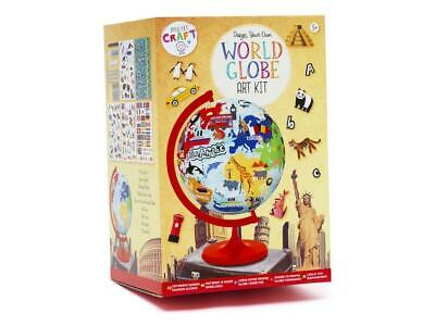Design Your Own World Globe Art Kit Learning Geography Educational Toy Kids 5+ • 8.99£