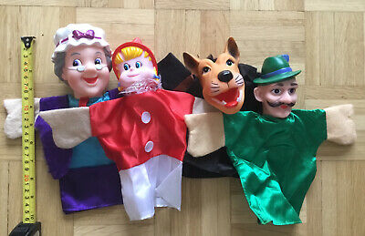 Little Red Riding Hood HAND PUPPETS SET Excellent Condition • 3.50£