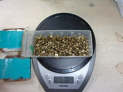 Meccano 250+ Pairs Of Brushed Brass Nuts & Bolts - Parts 37a & 37b - Excellent  • 45£