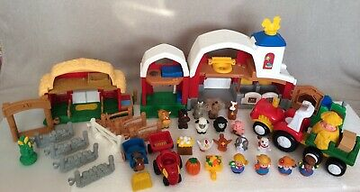 Fisher Price Little People Bundle Animal Sounds Farm, Stable & Tractor + Figures • 29.95£