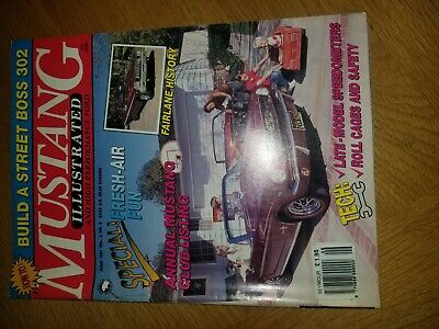 Mustang Illustrated Car Magazine . June 1991 , Good Condition • 0.99£