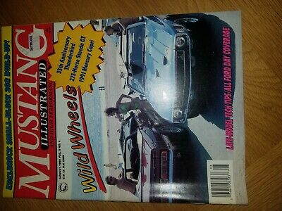 Mustang Illustrated Car Magazine , August 1990 , Good Condition • 1.70£