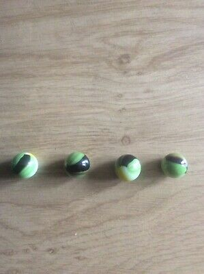 4 X Glass Marbles • 3£