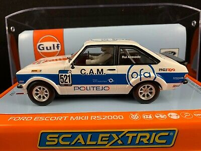 C4150 SCALEXTRIC FORD ESCORT MKII RS2000 GULF EDITION 1:32 Scale SLOT CAR • 41.55£