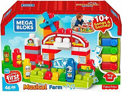Mega Bloks Musical Farm Building Toy With Sounds And Songs • 15.99£
