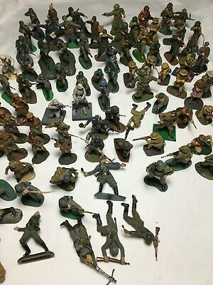 Large Lot Of 85 Vintage Plastic Soldier Figures • 50£