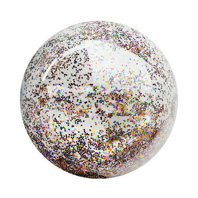 Sequin Beach Ball Glitter Holidays PVC Beach Ball Inflatable Swim Party Favor • 3.99£