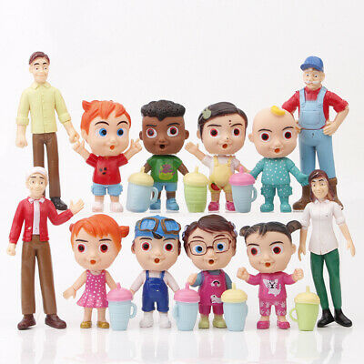 New Cocomelon Family & Friends 12pcs Action Figures Pack Toy Doll Xmas Gift • 9.99£