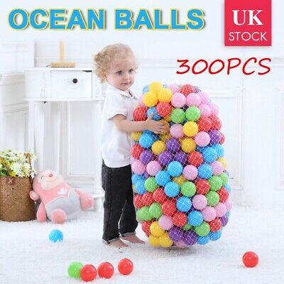300Pcs Colourful Pit Balls Soft Plastic Ocean Toy Kids Baby Playpen Swim Pool UK • 10.79£