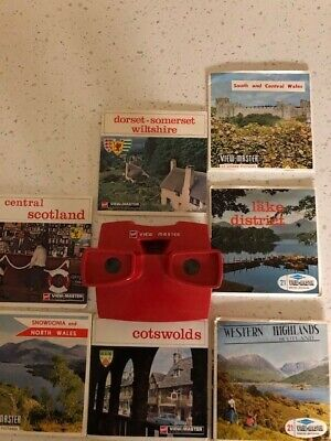 Viewmaster Red With 7 Reels Of The U K • 26£