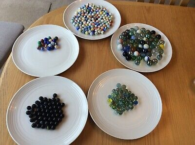 Assorted Traditional Coloured Glass Marbles • 1.20£