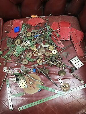 VINTAGE MECCANO GEARS, SPROCKETS, PULLEYS, ETC OVER 50 Plates • 21.70£