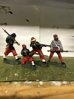 4 X PAINTED ZOUAVES AMERICAN CIVIL WAR 1861    1/32nd FIGURES • 15£