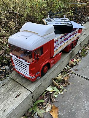 Tamiya Scania 1/14 Scale 6 X 4  RC Truck With Moffat Forklift And Load • 699£