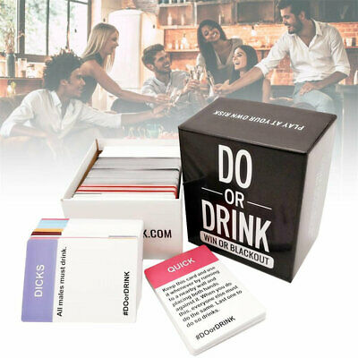 Do Or Drink Drinking Party Card Game For Adults Fun Dirty Dare Or Shots • 16.94£