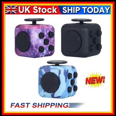 Fidget Hand Finger Cube 3D Focus Stress Relief Toy Adult Children Toy Gifts UK • 5.18£