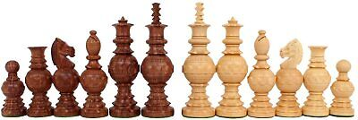 Chess Set Globe Design King 5  32 Wooden Weighted Handmade Chess Pieces • 69.99£