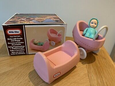 Little Tikes Dolls House - Boxed Baby, Cradle & Buggy/ Pram  • 25£