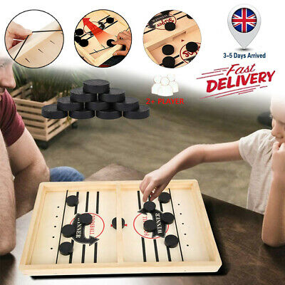 2020 NEW Wooden Hockey Game Tabletop Game Family Fun Game For Kids Children Gift • 8.95£