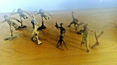 Vintage Cherilea UN / Gurkha Infantry X 7. RARE. VGC. Toy Soldiers. Early 1960's • 21£