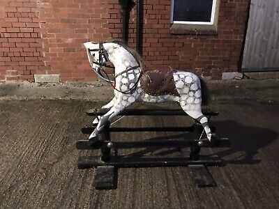 Antique  Rocking Horse On Gliders • 400£