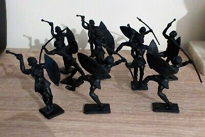 10 X Vintage (1950s) Cherilea Toy African / Zulu Warriors • 15£