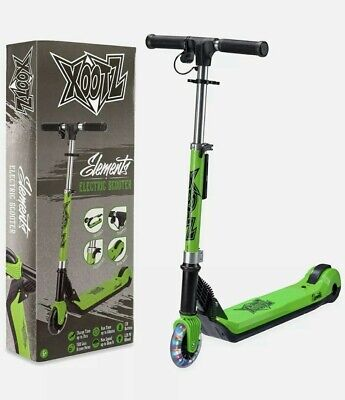 Xootz TY6018 Kids Elements Electric Folding Scooter Green - New!!!! • 89.99£