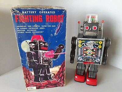 ¥¥ Horikawa Sh Japan Fighting Robot In Original Box Works Well Excellent.¥¥ • 235£