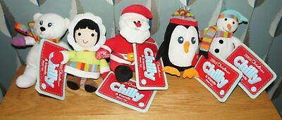 All New With Tags 5 Tesco Christmas Chilly & Friends Bean Toys Full Set Soft Toy • 4.98£