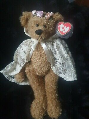 TY BEAR  EVE  Wearing LACY CAPE Tag & Protector. • 8£