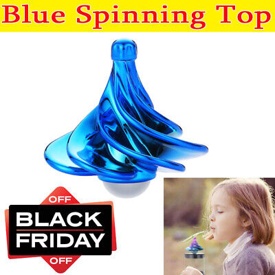 Spinning Top Wind Gyro Decompression Toy BlowGyro Wind Blow Turn Gyro Desktop UK • 8.11£