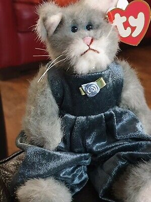 Vintage 1993 Ty Attic Treasures Whiskers The Cat Collectable Plush Soft Toy Rare • 5£