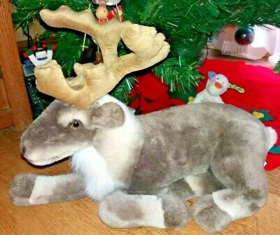 Beautiful Large Christmas Sitting Reindeer Cuddly Toy Plush 17  Long • 9.99£