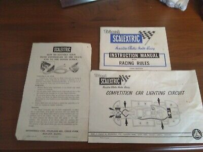 Vintage Scalextric /Tri-ang Instruction Manual Racing Rule 3rd Edition (1960's) • 3£