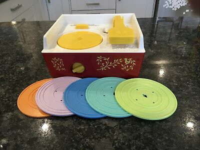 Fisher Price Music Box Record Player With 5 Records • 4.80£
