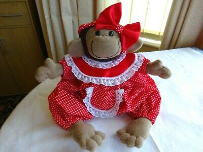 Handmade Monkey & Clothes Soft Toy ( Girl ) • 14.99£