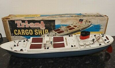 Tri-ang Ocean Trader Scale Model Cargo Ship - Electric Powered • 24£
