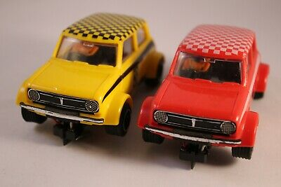Scalextric Mini 1275GT X2 Set Red And Yellow C.122 C122  Slot Car Vintage  • 9.99£