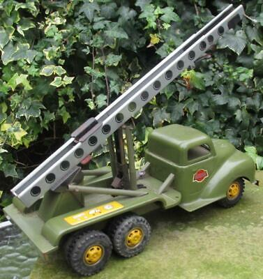 6 Wheeled Rocket Launcher Truck Van Gama 211 Germany  9079 With Rare Launch Sled • 275£