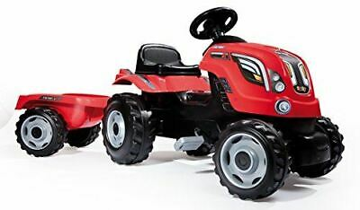 Childrens Red Farmer Xl Pedal Ride On Tractor & Kids Trailer Outdoor Toy  • 79.95£