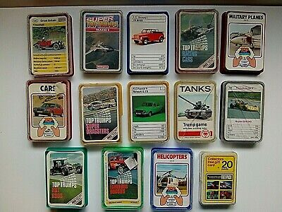 Top Trumps Job Lot From The 1970/80s • 25£