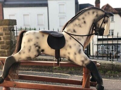 Quality Carved Wooden Dapple Grey Vintage Rocking Horse • 1,080£