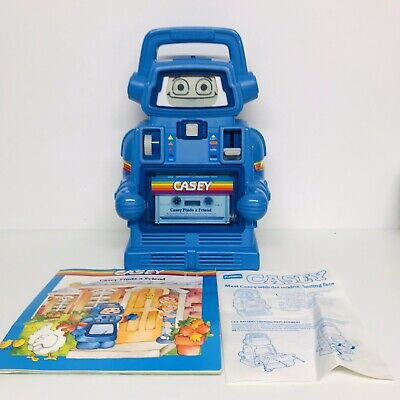 Playskool - 1985 Casey Robot - Cassette Player Learning Toy - Boxed + Working • 89.99£
